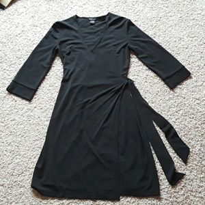 Black wrap dress size small